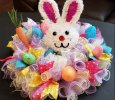 Bunny Head Easter Centerpiece