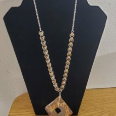 Jasper and Silver Plated Necklace