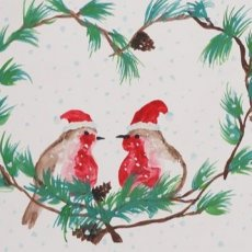 HOLIDAY LOVE BIRDS WATERCOLOR PAINTING KIT & VIDEO LESSON