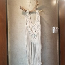 Antler Wall Hanging with Turquoise