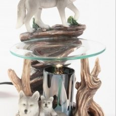 Wolf Wickless Candle Burner