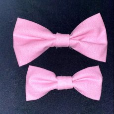 Pink Sparkles Bow Tie (Size Large)