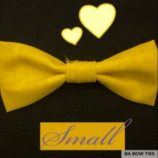 Yellow Bow Tie (Size Small)