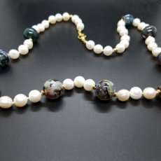 Torch Work Glass & Fresh Water Pearls