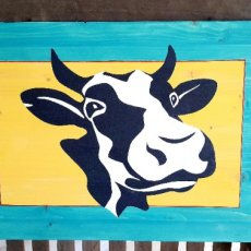 Funny Cow Face Sign