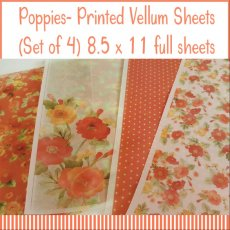 Poppies Printed Vellum Sheets
