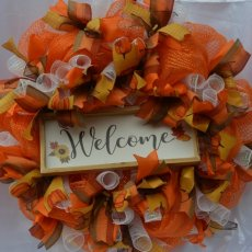 Welcome Thanksgiving Wreath