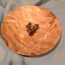 Cotton Wood Burl Plate with Fractal Burning