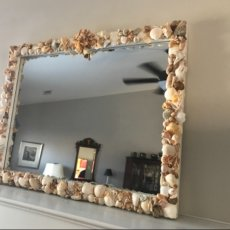 Atlantic Sea Litter shell mirror. 32 x 24