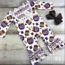 Peanut Butter and Jelly romper
