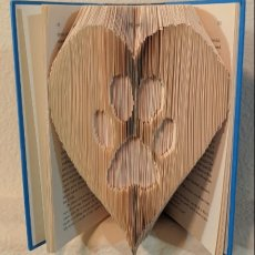 Paw Print - Folded Book Art
