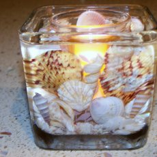 Square Shell Candle Holder