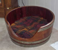 WINE BARRELL DOG BED