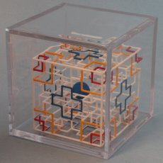 Rolling Ball Maze Puzzle Cube with Hand Painted 3D Artwork