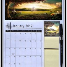 Magnetic Refrigerator Country Scene Calendar 2012 - 2014