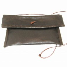 Brown Leather Rolled Shoulder Bag