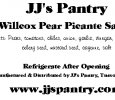 JJ's Pantry Willcox Pear Picante Sauce