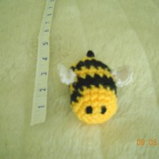 Betty Bumblebee Crocheted Cat Toy