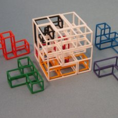 SOMA Cube Puzzle with new Interlocking cubes challenges and prize contest - In Clear Case