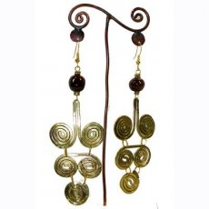 Hand Crafted Jacaranda Brass Earrings