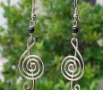 Musical Note Silver Plated Earrings  FREE SHIPPING