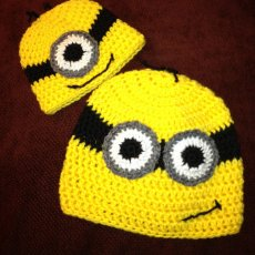Crochet Yellow Character Hats Made to Order inspired by Minions