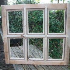 8x10 Handcrafted  Window Pane Picture Frame - 6 Pane