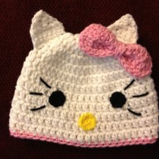 Crochet Kitty Hat Inspired by Hello Kitty