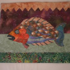 Wall Hanging Art Quilt One Of A Kind Original Handmade Gift Ready to Ship