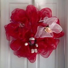 Sock Monkey Valentine Wreath