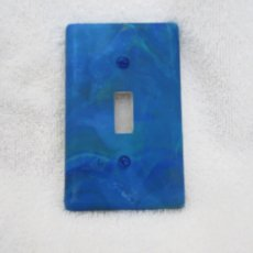 Switch Plate in Marbled Blues