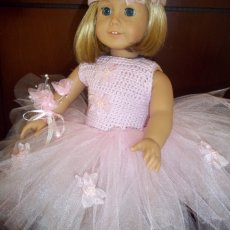 "tutu for american girl doll or any 18"" doll"