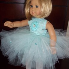"blue tutu for american girl doll or any 18"" doll"