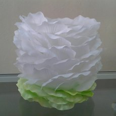 Silk Petal Candle Holder - 5 1/2 inches height