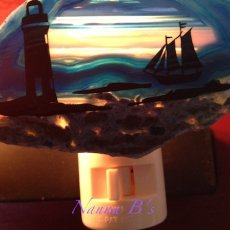 Agate Night Light (Light House with Rocks)