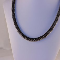 Black and Silver Half Persion Necklace