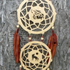 Double wolf Dream Catcher