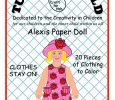 Alexis Paper Doll to Color