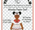Shaday Paper Doll to Color