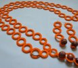 Crochet Orange Ring Necklace and Earrings Set