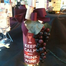 Keep Calm & Drink Wine Lighted Bottle