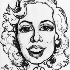 Caricature Cartoon portraits in Black and White