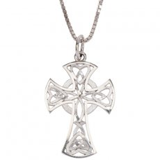 Celtic Cross Pendant with Hearts