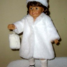 Fur Coat, Hat and Muff fits American Girl Doll, Springfield Doll,etc.