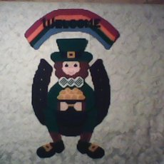 Leprechaun wall hanging