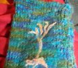 Wool Felted Bag with Tree of Life