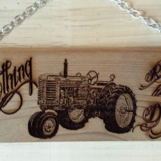Laser Engraved Cedar Sign - JD Slogan