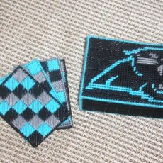 CAROLINA PANTHERS COASTER SET OF 4